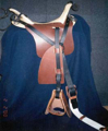 Confederate (CS) Richmond Arsenal 1st Model Patent Jenifer saddle, quarter strap rigged