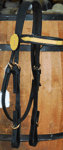 Civil War 6 Buckle Officer's Headstall with branch trim