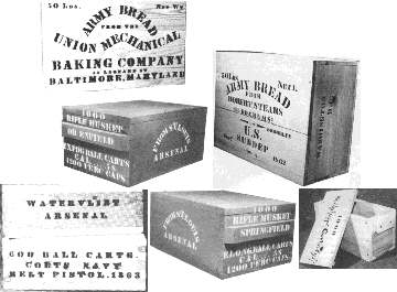 Military Boxes: ammo, hard tack, etc (1800s/19th Century)