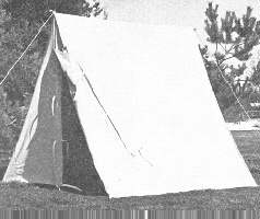 """A"" Tents / Wedge Tents, 19th Century (1800s) Military & Civilian"