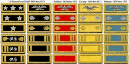 Civil War Officers Shoulder Boards / Bars