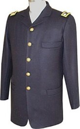 Civil War Junior Officers Sack Coat with Civilian Style Collar and Shoulder Boards