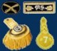 Officer Shoulder Boards, Epaulettes and Hat Insignia