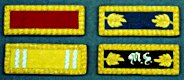 M1872 Shoulder Boards, 2nd Lt Artillery, Captain Cavalry, Major Staff, Major Medical Staff